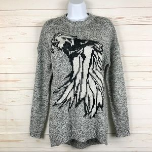 Forever 21 Exclusive Eagle Gray Pullover Sweater
